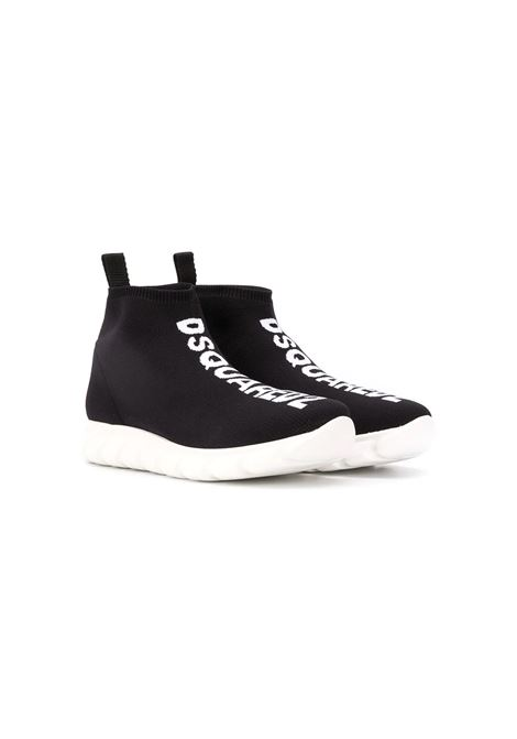 SNEAKERS ALTE CON LOGO DSQUARED2 JUNIOR | Sneakers | 635163