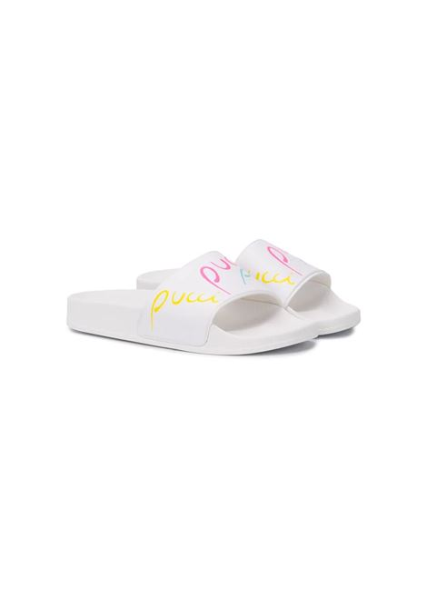 LOGO PRINTED SLIDERS EMILIO PUCCI | Sandals | 9M0216-MX380100