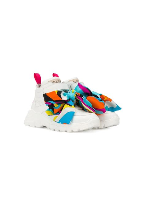 RIBBON DETAIL HIGH-TOP SNEAKERS EMILIO PUCCI | Sneakers | 9M0226-MX360100