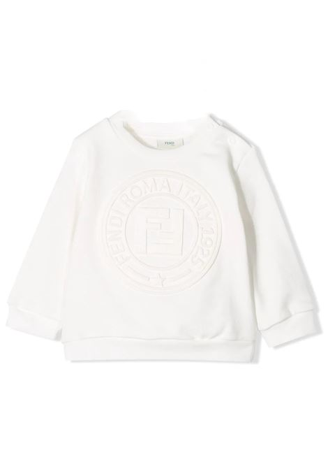 TEXTURED LOGO SWEATSHIRT FENDI KIDS |  | BMH064 5VOF0TU9