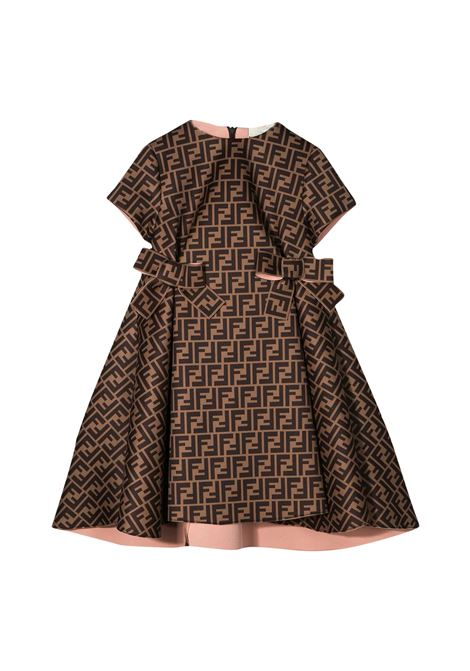 FENDI KIDS SHORT DRESS FF FENDI KIDS | Dress | JFB312 A8LGF0EV6