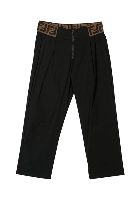 FENDI KIDS PANTS WITH FF BAND FENDI KIDS | Trousers | JFF177 AAC3F0QA1