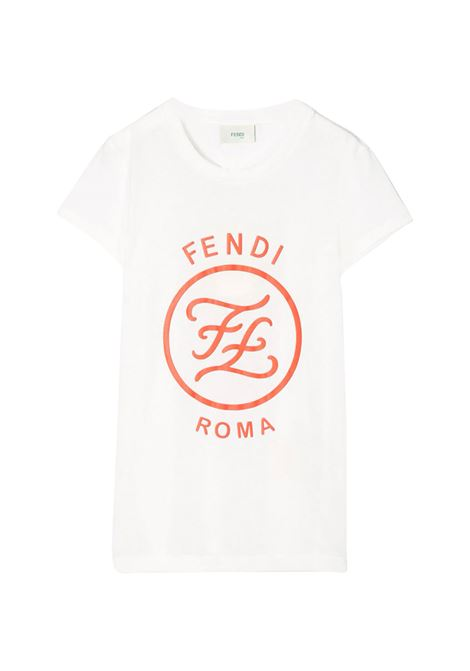 FENDI KIDS T-SHIRT CON STAMPA FENDI KIDS | T-shirt | JFI187 7AJF0TU9