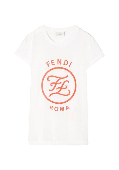 FENDI KIDS T-SHIRT CON STAMPA FENDI KIDS | T-shirt | JFI187 7AJTF0TU9