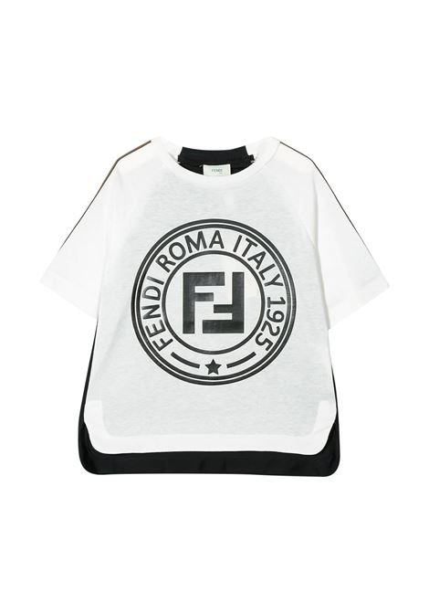 FENDI KIDS T-SHIRT CON STAMPA FENDI KIDS | T-shirt | JMI312 7AJF0TW8