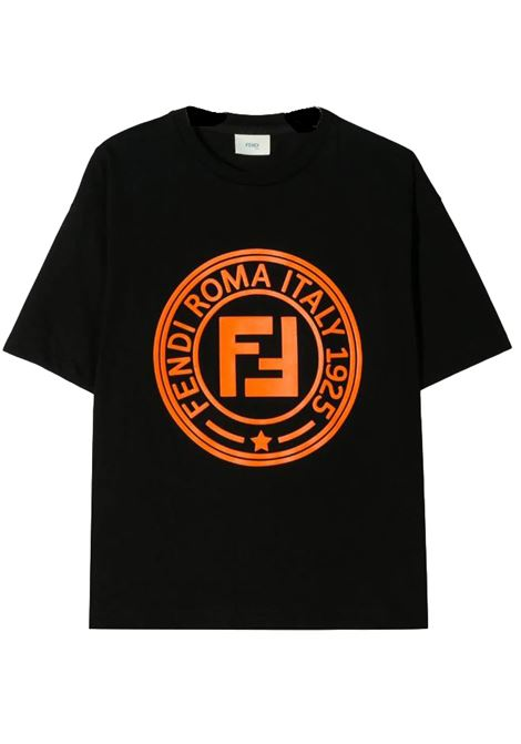 FENDI KIDS T-SHIRT CON STAMPA FENDI KIDS | T-shirt | JMI326 7AJF0Q97