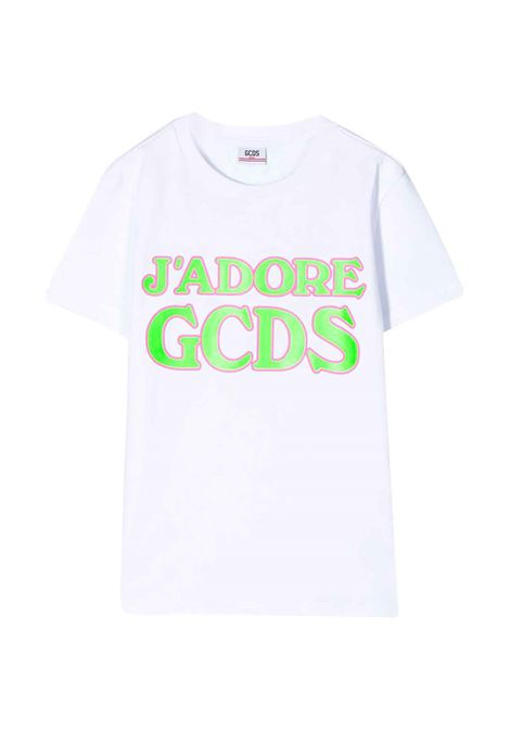 WHITE T-SHIRT GCDS KIDS GCDS KIDS | T-shirt | 022707001