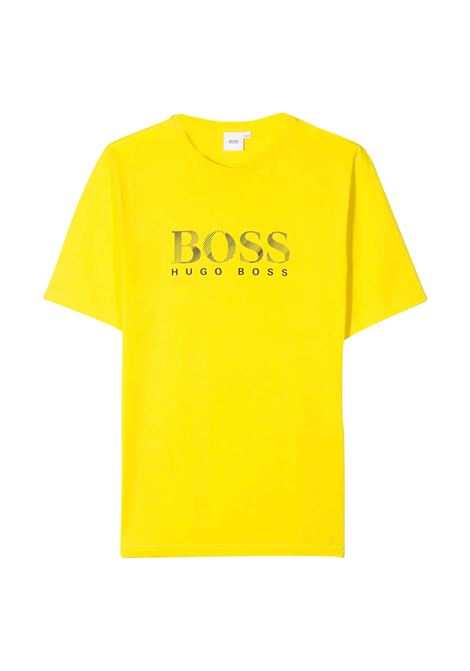 T-SHIRT GIALLA BOSS KIDS HUGO BOSS KIDS | T-shirt | J25E63535