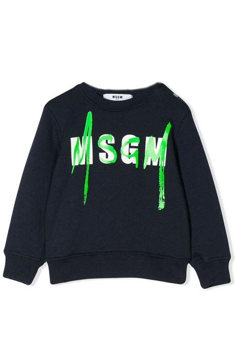 LOGO STAMP LONG SLEEVE SWEATSHIRT MSGM KIDS | Sweatshirts | 022079060