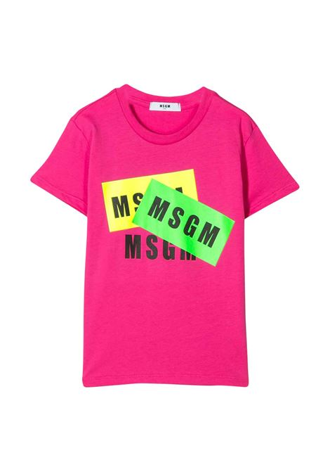 MSGM KIDS T-SHIRT WITH LOGO  MSGM KIDS | T-shirt | 022094044