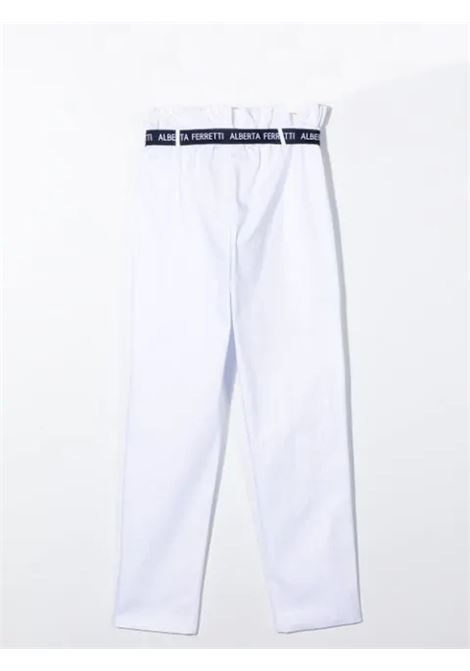 TROUSERS WITH COLLECTED WAIST ALBERTA FERRETTI JUNIOR | 027433002