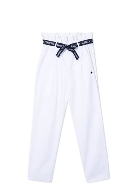 TROUSERS WITH COLLECTED WAIST ALBERTA FERRETTI JUNIOR | Trousers | 027433T002