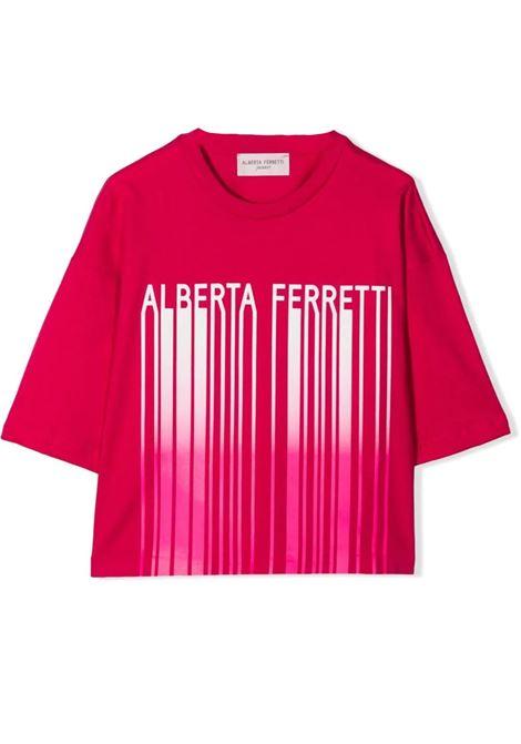 T-SHIRT WITH PRINT ALBERTA FERRETTI JUNIOR | 027437044