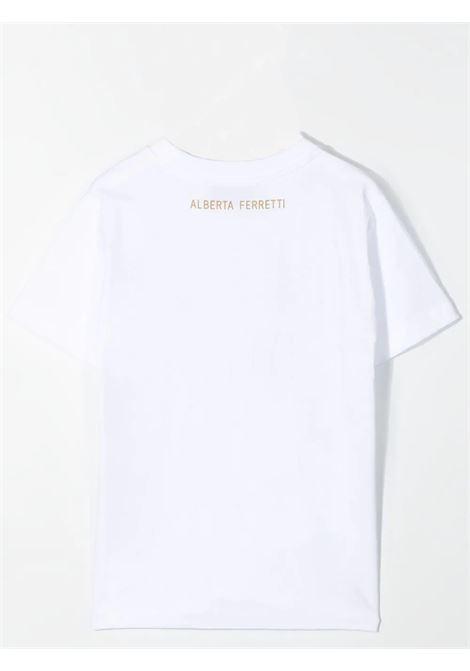 T-SHIRT WITH RELIEF PRINT ALBERTA FERRETTI JUNIOR | 027837002