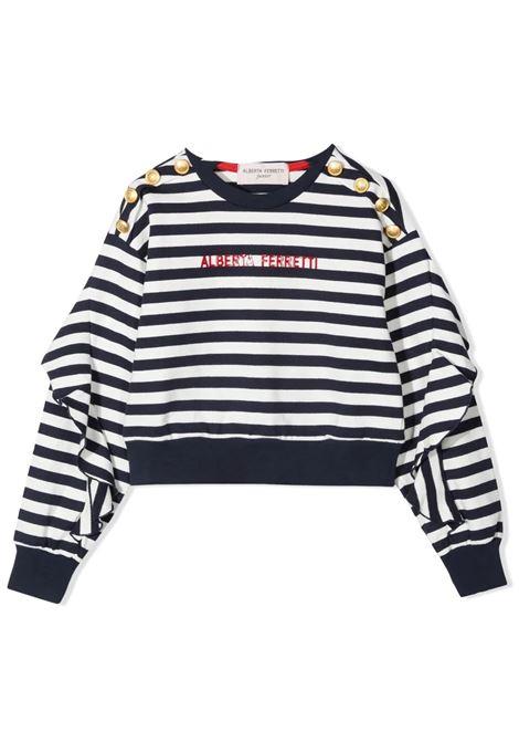 STRIPED SWEATSHIRT WITH PRINT ALBERTA FERRETTI JUNIOR | Sweatshirts | 027840060