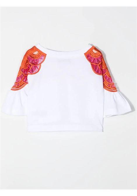 Little girl t-shirt with embroidered logo ALBERTA FERRETTI JUNIOR | 027980002