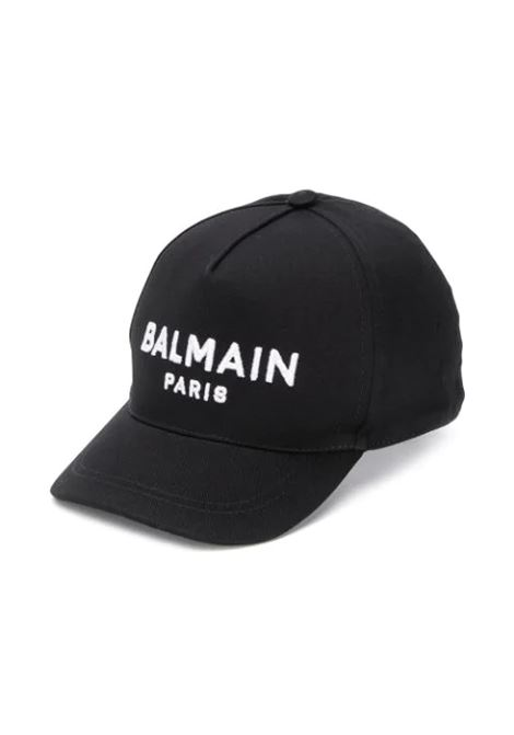 BASEBALL CAP WITH EMBROIDERY BALMAIN KIDS | Hats | 6M0787 MX560930