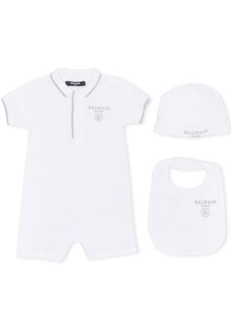 SUIT, BIB AND HAT SET WITH EMBROIDERY BALMAIN KIDS | Set | 6M0951 MB370100