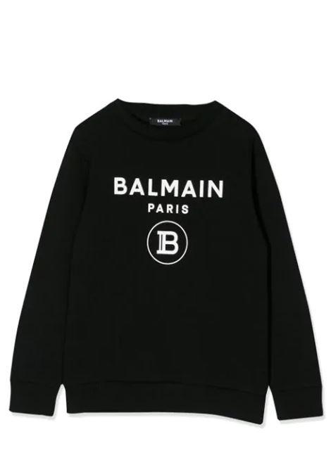 SWEATSHIRT WITH PRINT BALMAIN KIDS | Sweatshirts | 6M4760 MX270930