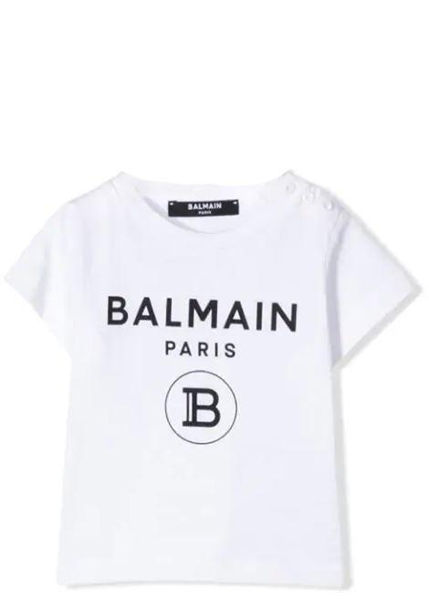 T-SHIRT CON STAMPA BALMAIN KIDS | T-shirt | 6M8901 MX030100NE