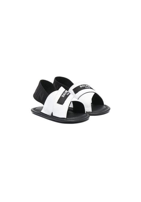 LOGO-PATCH SANDALS BALMAIN KIDS | Sandals | 6O0816 OX820930BC