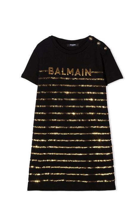 Little girl dress with sequins BALMAIN KIDS | Dress | 6O1021 OB690T930