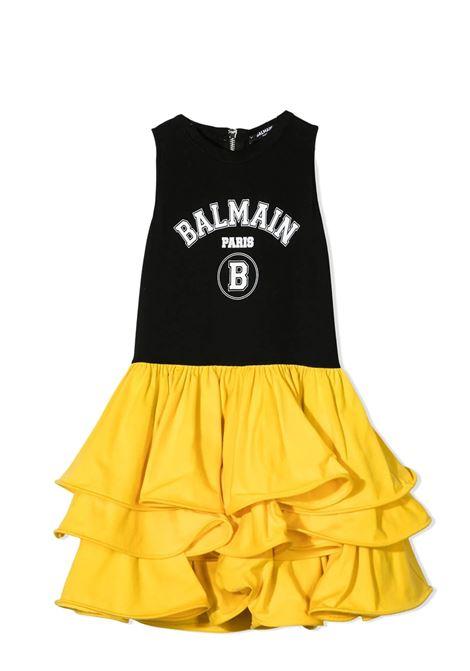 Two-tone little girl dress BALMAIN KIDS | Dress | 6O1292 OB690930GL