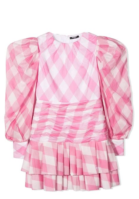 CHECKED DRESS BALMAIN KIDS | Dress | 6O1320 OD830T100RS