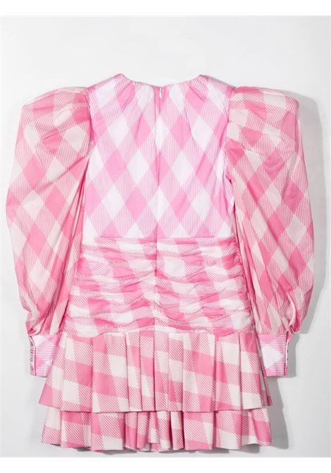 CHECKED DRESS BALMAIN KIDS | 6O1320 OD830T100RS