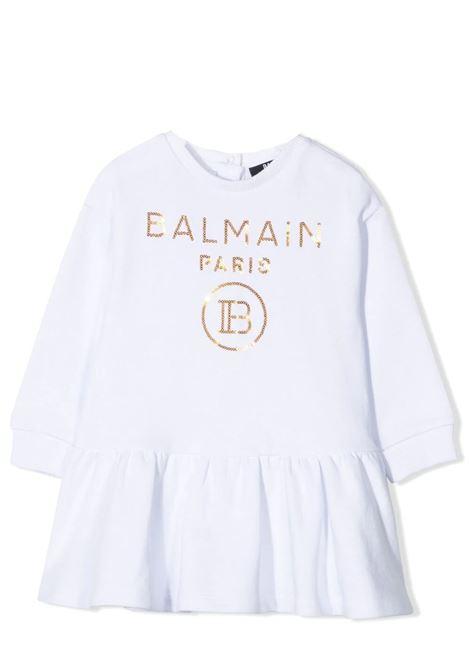 DRESS WITH SEQUINS BALMAIN KIDS | Dress | 6O1830 OX360100