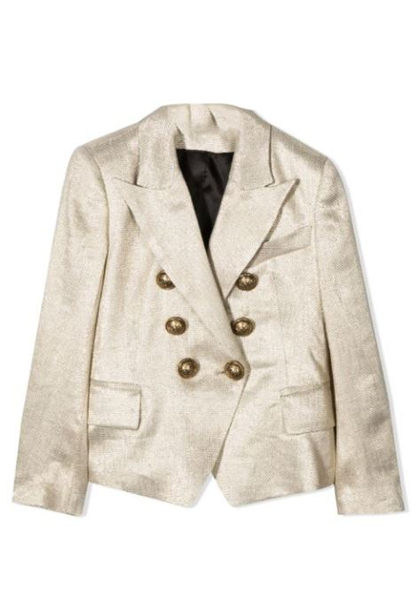 DOUBLE-BREASTED BLAZER  BALMAIN KIDS | Jackets | 6O2000 OA740218