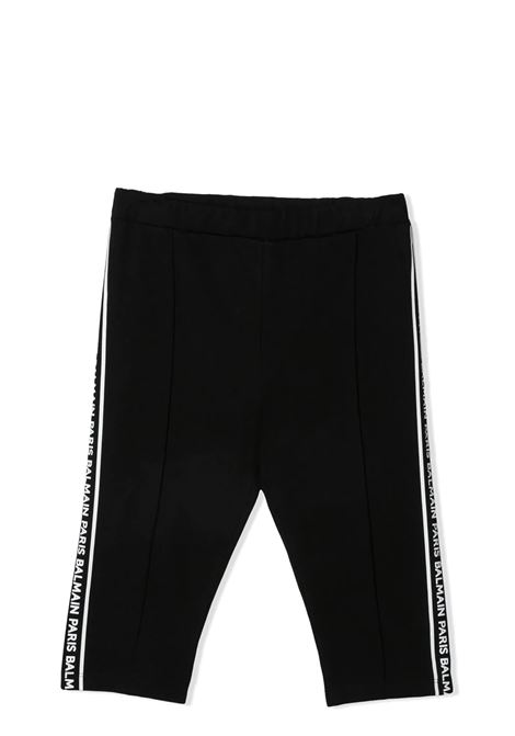 CYCLIST WITH PRINT BALMAIN KIDS | Leggings | 6O6179 OB690930BC