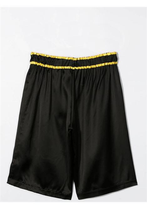 BLACK BERMUDA WITH COULISSE BALMAIN KIDS | 6O6929 OD940930