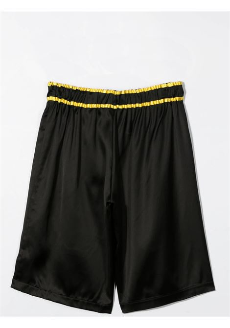BLACK BERMUDA WITH COULISSE BALMAIN KIDS | 6O6929 OD940T930
