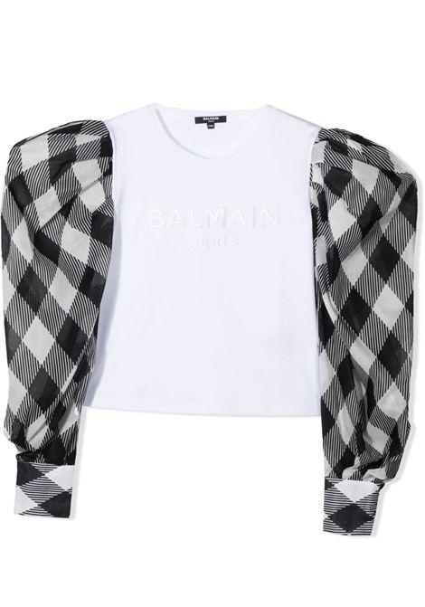 T-SHIRT WITH PRINT BALMAIN KIDS | T-shirt | 6O8240 OB690T100NE
