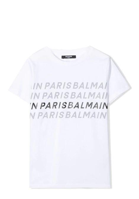 T-SHIRT WITH WRITINGS BALMAIN KIDS | T-shirt | 6O8511 OX400100