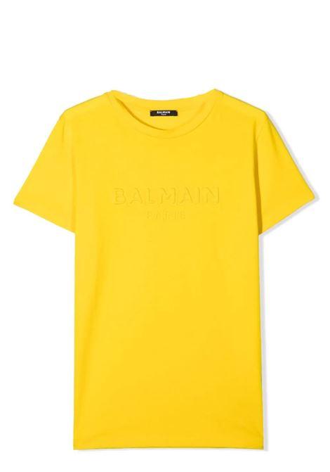T-shirt unisex con logo goffrato BALMAIN KIDS | T-shirt | 6O8631 0X390T201