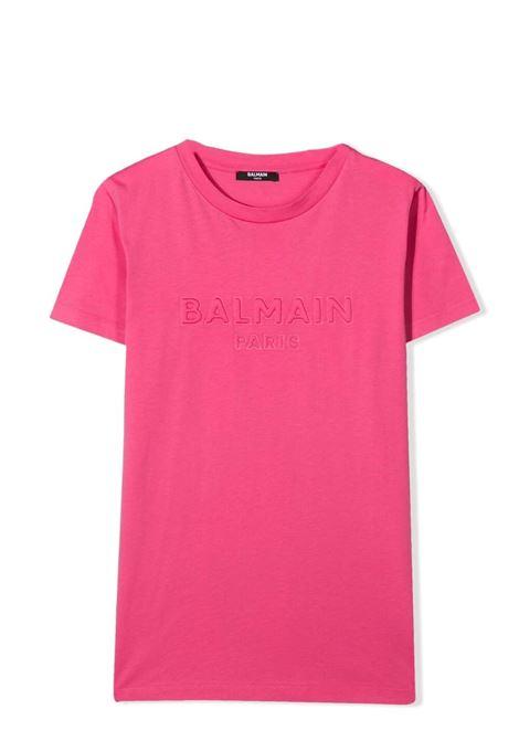 Unisex T-shirt with embossed logo BALMAIN KIDS | T-shirt | 6O8631 OX390513