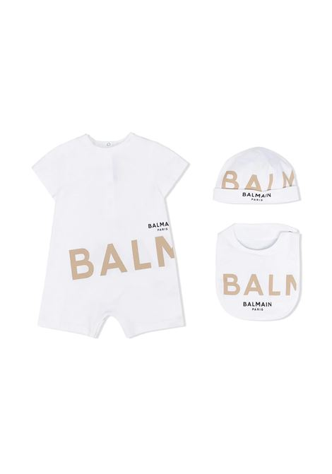 SUIT SET WITH PRINT BALMAIN KIDS | Newborn jumpsuits | 6O8A31 OB690100