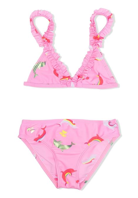 SWIMSUIT WITH PRINT AND RUCHES BILLIEBLUSH KIDS | Swimsuits | U10384462