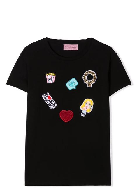 T-shirt bambina con applicazione CHIARA FERRAGNI KIDS | CFKT02703