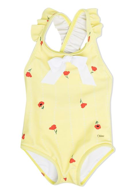 ONE PIECE SWIMSUIT WITH FLOWERS CHLOE' KIDS | Swimsuits | C0706460A