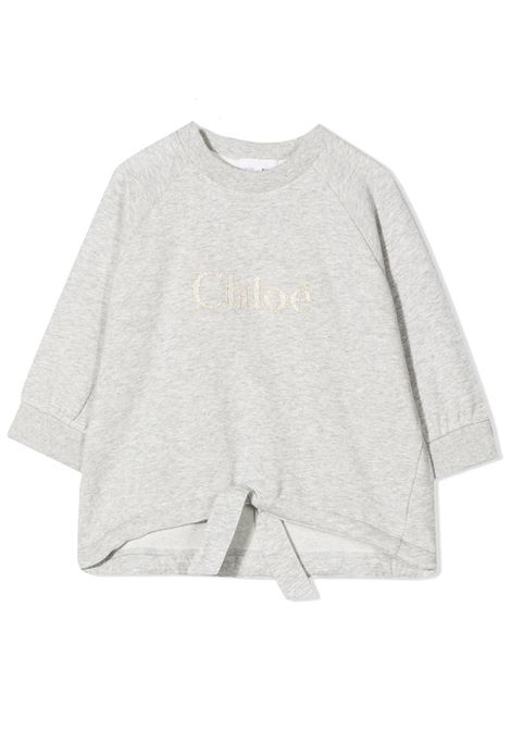 SWEATSHIRT WITH EMBROIDERED LOGO CHLOE' KIDS | Sweatshirts | C15B79A32