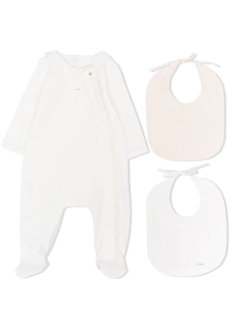 ROMPER WITH RUCHES CHLOE' KIDS | Newborn jumpsuits | C97265117