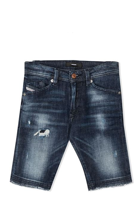 DISTRESSED SILM-FIT JEANS DIESEL KIDS | Bermuda | 00J3VW-KXB8ETK01