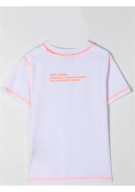 T-SHIRT CON STAMPA DIESEL KIDS | J00107-KYAR1K100