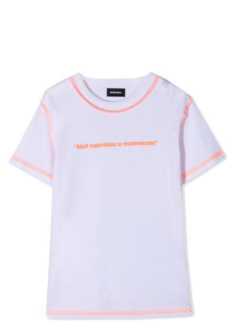 contrast stitching cotton T-shirt