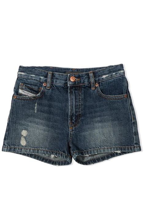 DISTRESSED DENIM SHORTS DIESEL KIDS | Short | J00153-KXB8BTK01