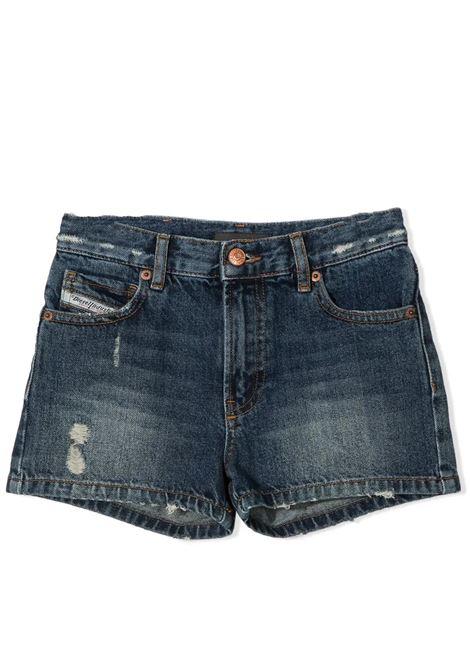 SHORTS DENIM EFFETTO VISSUTO DIESEL KIDS | Shorts | J00153-KXB8BTK01