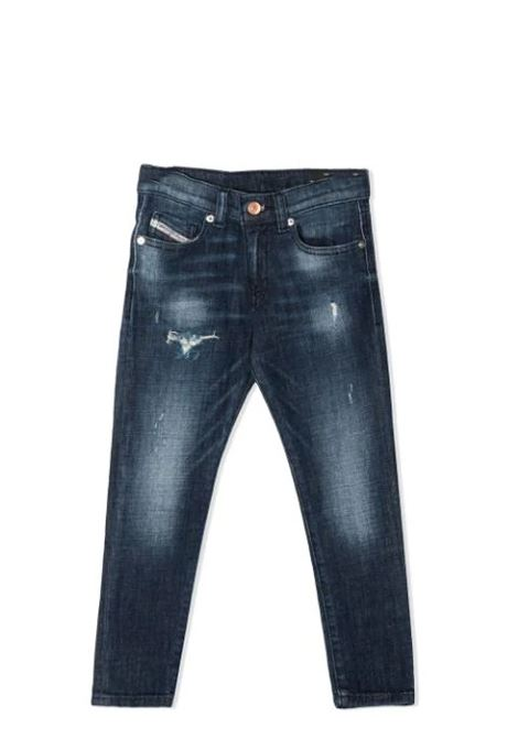 JEANS WITH LIGHTENED EFFECT DIESEL KIDS | Jeans | J00155-KXB8EK01